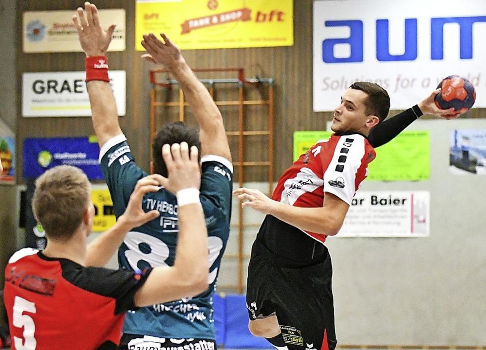 <BZ-FotoAnlauf>Landesliga:</BZ-FotoAnl... Tor der gastgebenden Handball-Union.   | Foto: Keller