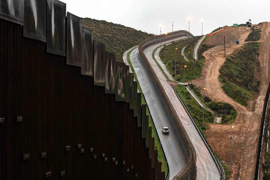 Grenze zu Mexiko    Foto: AFP