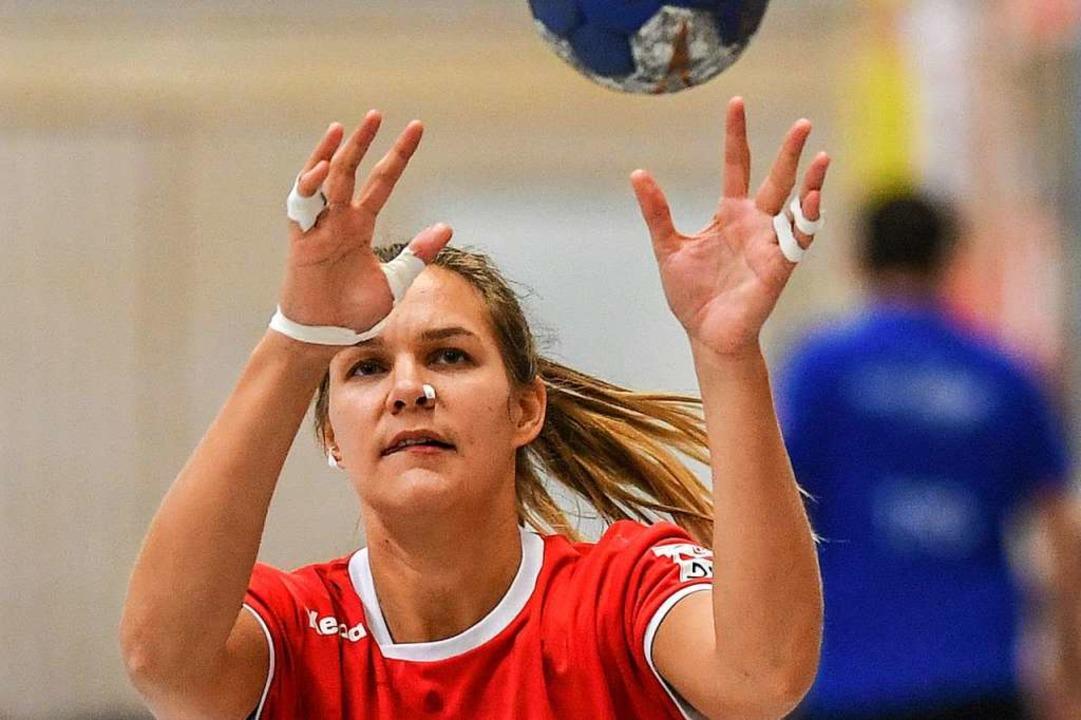 Jetzt will sie endlich zeigen, was sie...ei den HSG-Handballerinnen in Schwung.  | Foto: Patrick Seeger