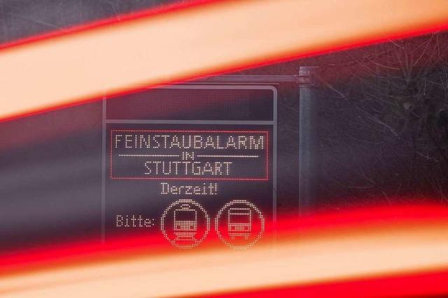 Feinstaubwerte in Stuttgart höher als an Neujahr