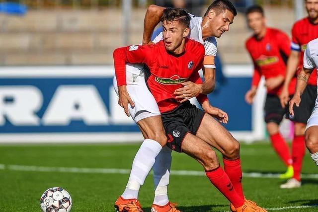 Marvin Pieringer hat sich in der Zweiten des SC Freiburg schnell entwickelt