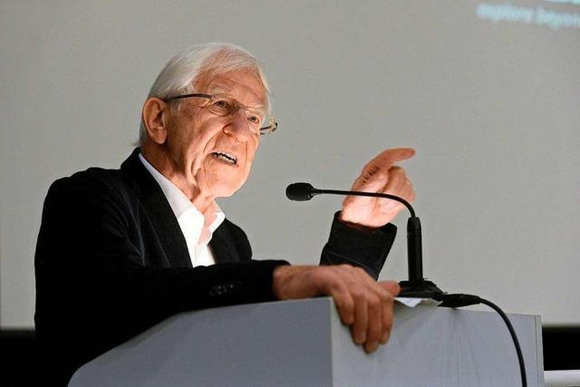 Franz Alt sprach in Freiburg über Wachstum und Dietenbach