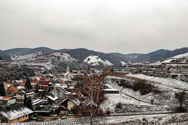Dezente Schneepracht in Schelingen