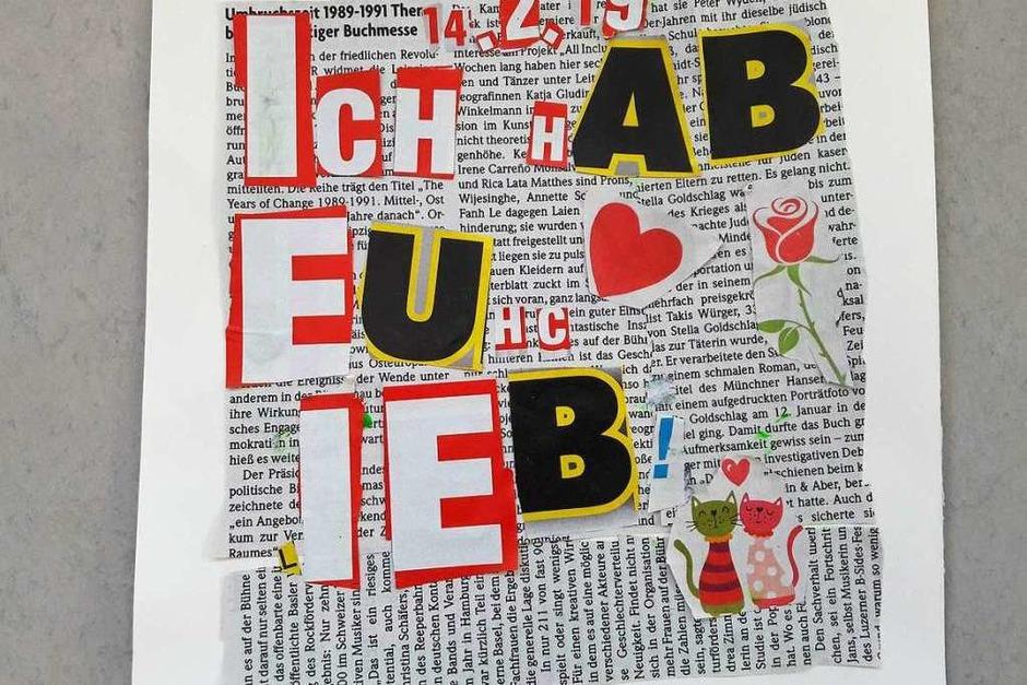 Ein Liebesbrief aus Zeitung (Foto: Christiane Schmidt)