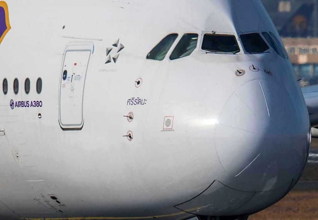 Der Airbus A-380 ist sehr, sehr groß.    Foto: dpa