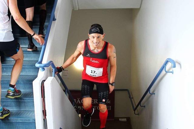83 808 Stufen in knapp zehn Stunden: Lahrer Treppenläufer will Weltmeister werden