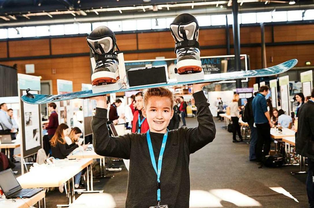 Finley Braun ist Schüler am Geschwiste... Waldkirch beim Wettbewerb angetreten.  | Foto: Sick AG