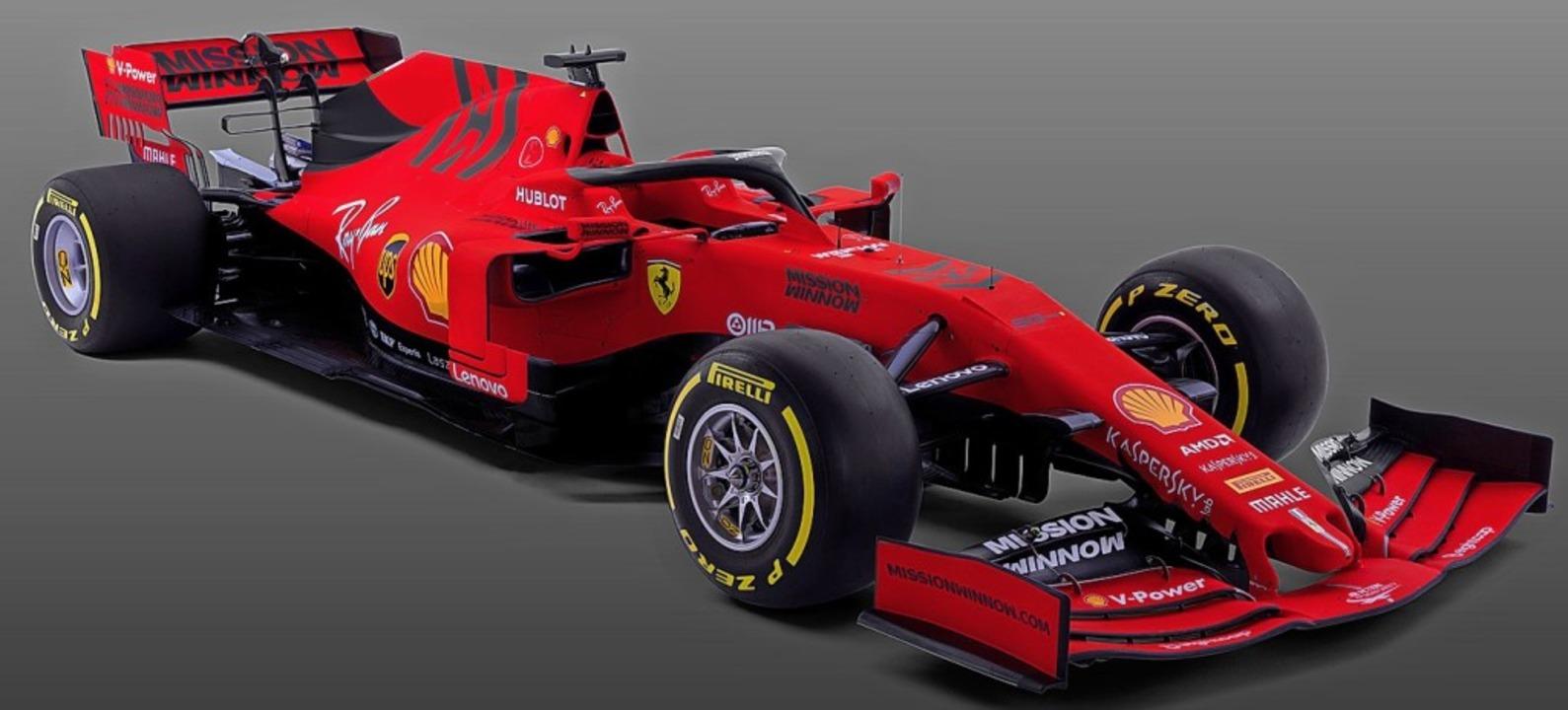 In mattes Rot lackiert: Sebastians Vettel neuer Ferrari SF90  | Foto: afp