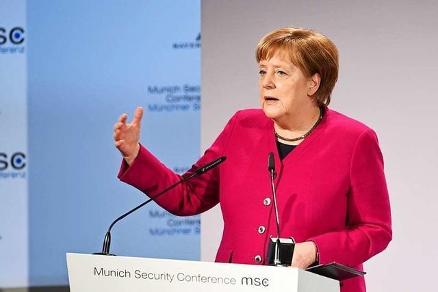 Angela Merkel rechnet bei Sicherheitskonferenz mit Trump ab