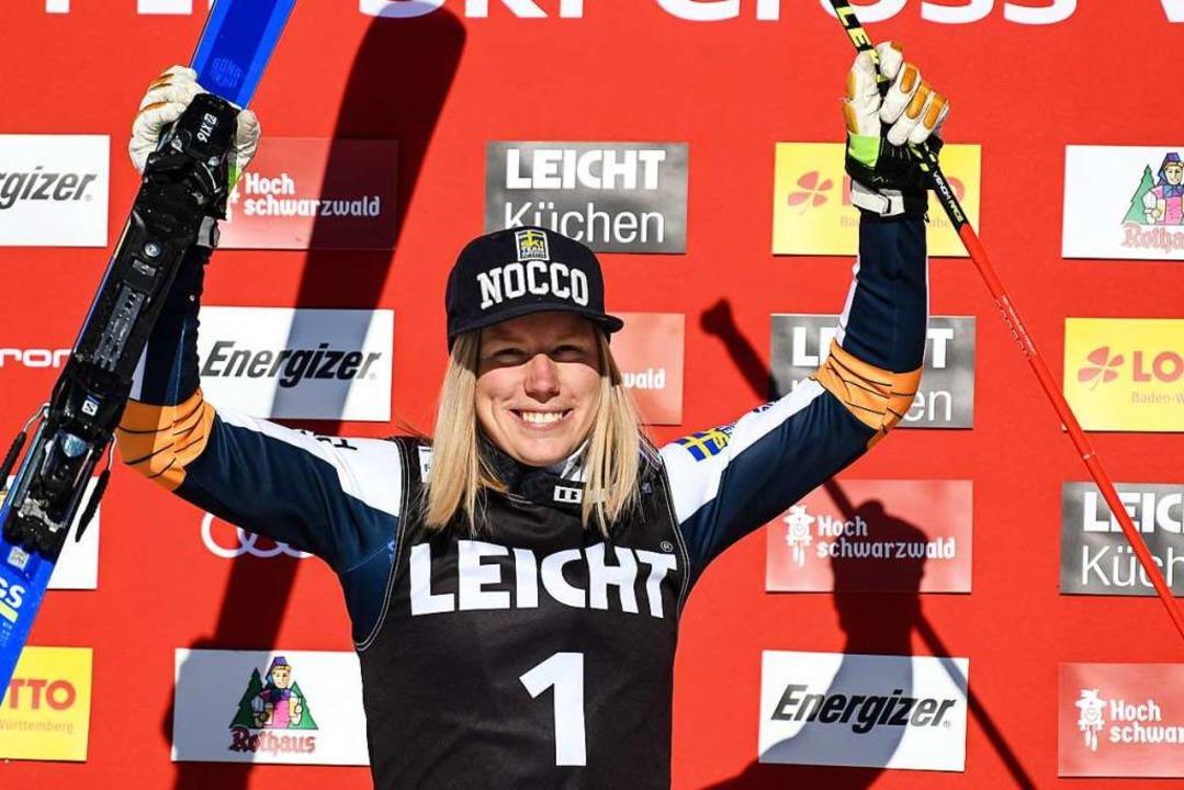 Bei den Frauen gewann Sandra Naeslund aus Schweden.  | Foto: dpa