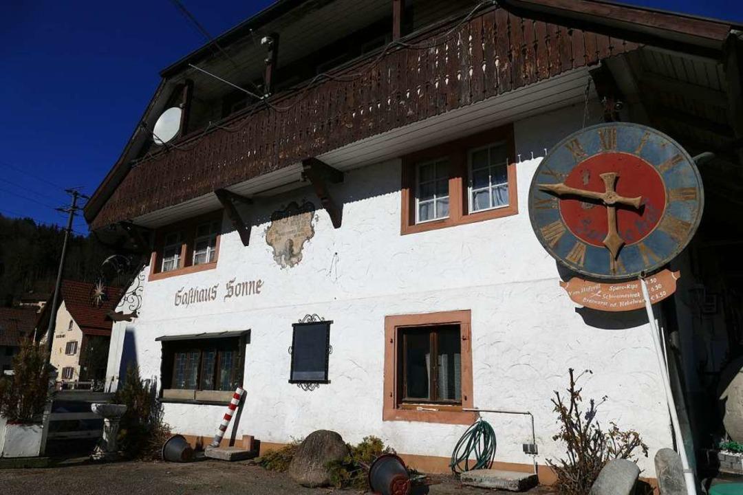 Das Gasthaus Sonne in Wieslet ist ein ... über die Jahrhunderte verändert hat.   | Foto: Sarah Trinler/Michael Fautz