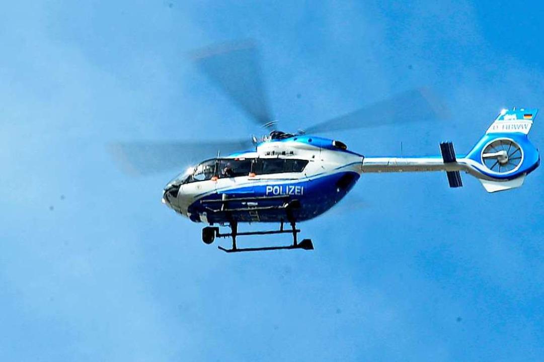 Sogar mit einem Hubschrauber (Archivfo...e Kuh, die geschlachtet werden sollte.  | Foto: Ingo Schneider
