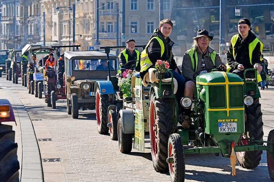 Traktor-Demo gegen Dietenbach. (Foto: Michael Bamberger)