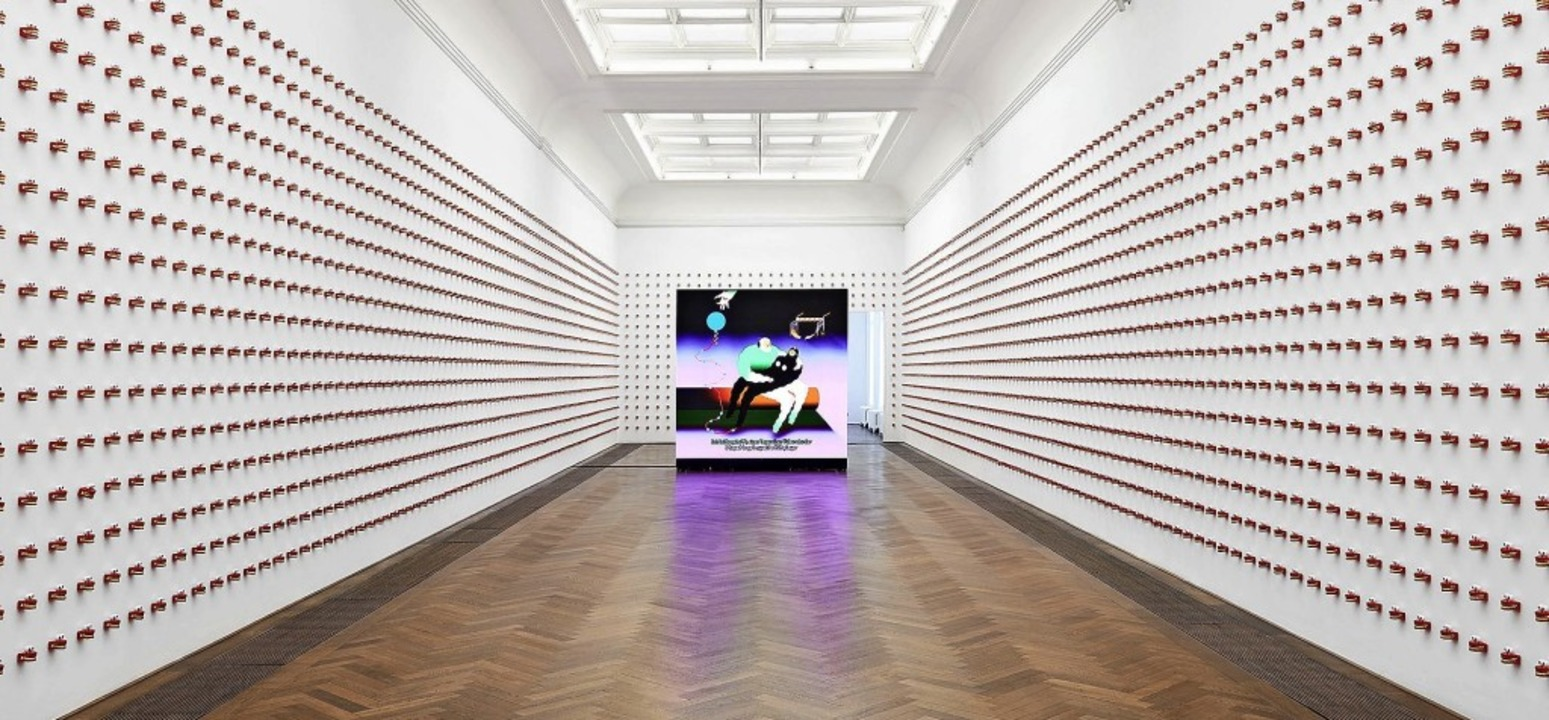 Wong Ping, Insatllationsansicht, Golden Shower, Kunsthalle Basel, 2019  | Foto: Philipp Hänger