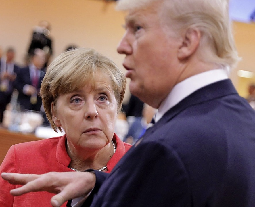 Haben weiter Verständigungsprobleme: U...eutsche Bundeskanzlerin Angela Merkel.    Foto:  dpa