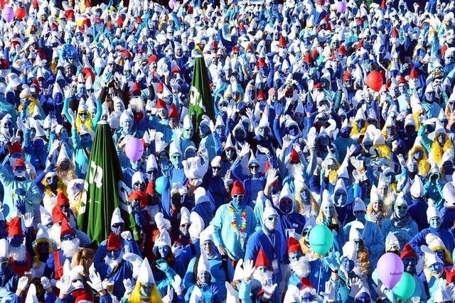 Lauchringen knackt den Schlumpf-Weltrekord