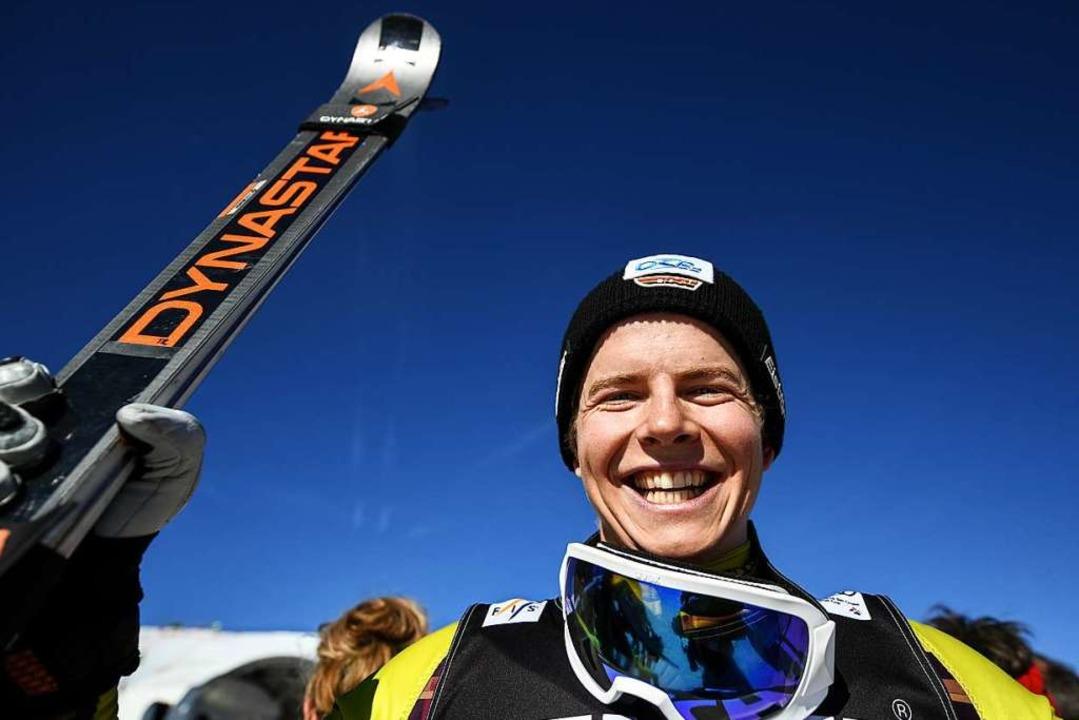 Skicrosser Florian Wilmsmann strahlt v...die besten Ergebnisse seiner Karriere.  | Foto: dpa