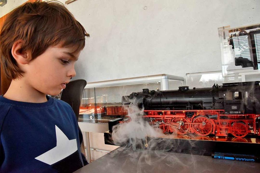 Ganz schön Dampf machten die kleinen Modellloks    Foto: Markus Zimmermann