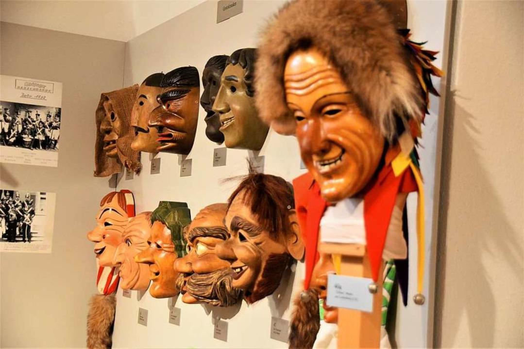 67 Masken aus der schwäbisch-alemannis...ie Ausstellung in der Villa Berberich.  | Foto: Hildegard Siebold