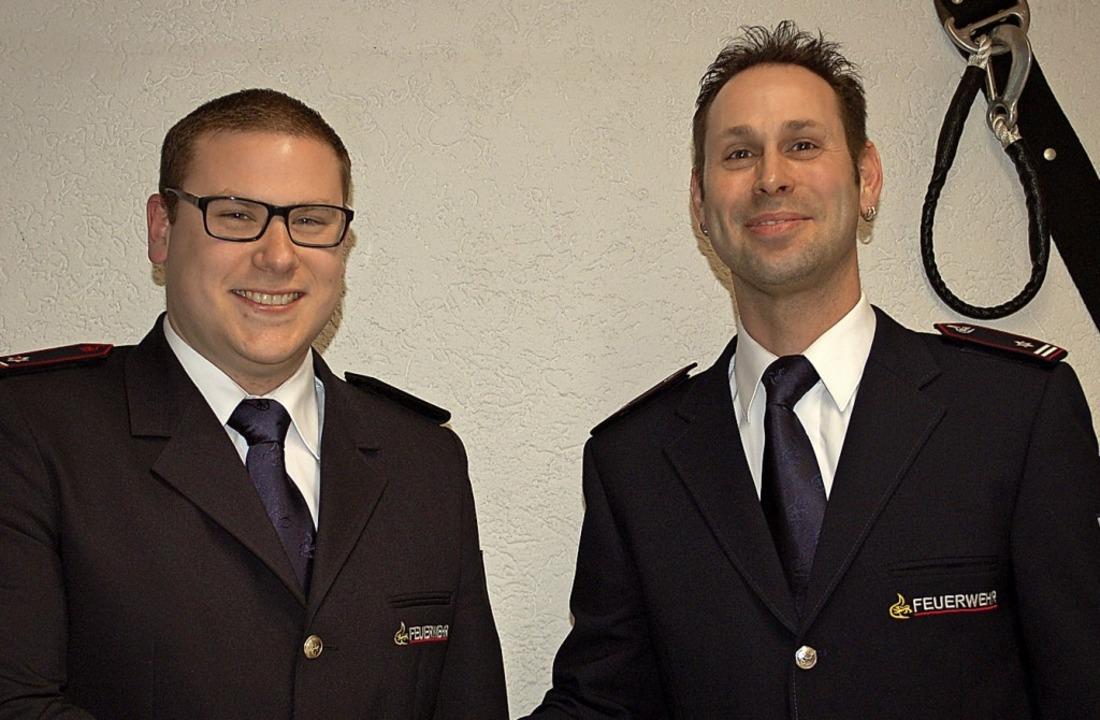 Jan Jägerbauer (links) vertritt künfti...zentaler (rechts) in dieser Funktion.   | Foto: Barbara Röderer