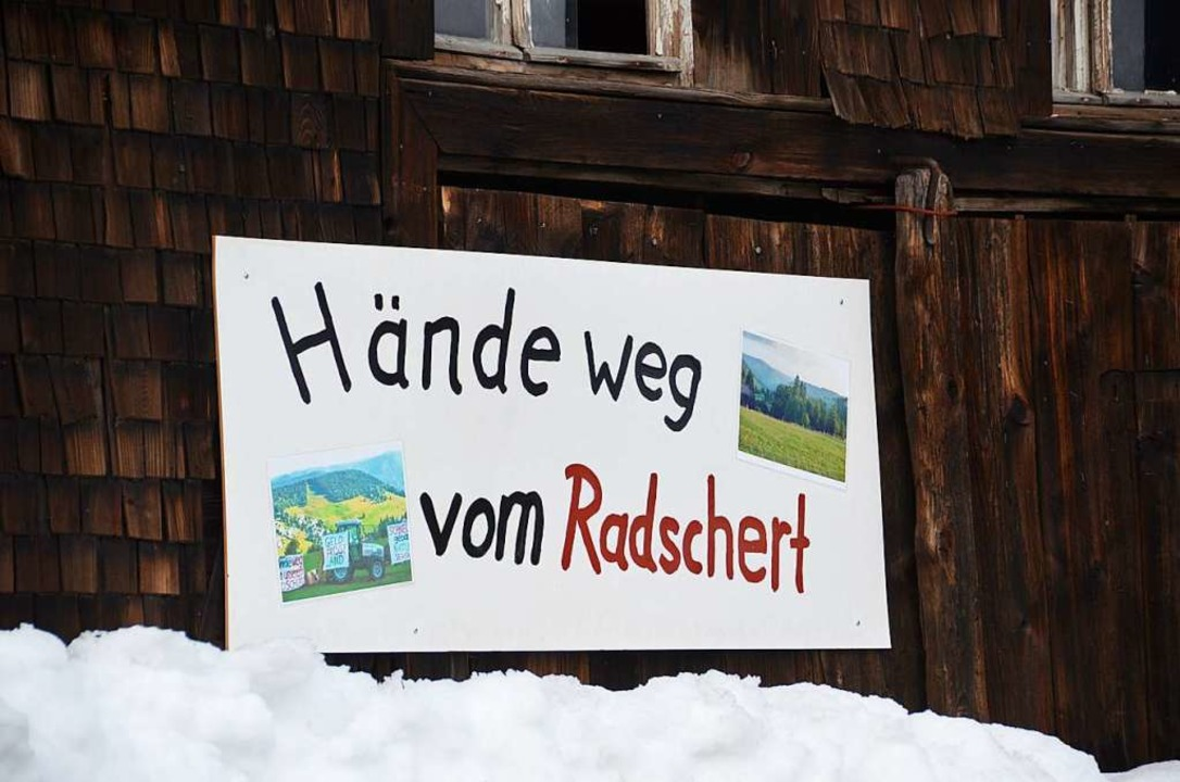 Protestplakat im Ortskern  | Foto: -