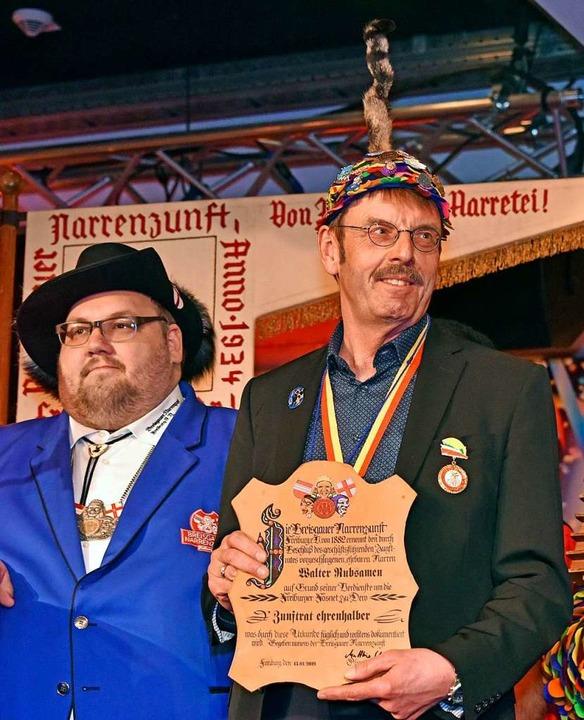 Walter Rubsamen ist nun ein Zunftrat ehrenhalber.  | Foto: Michael Bamberger