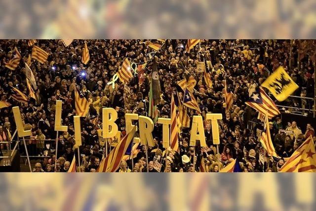 Separatisten protestieren gegen Prozess in Madrid