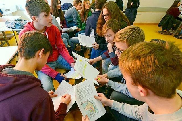 In 24 Freiburger Schulen diskutieren Schüler über Dietenbach