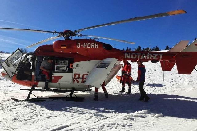 Zwei Unfälle beim Wintersport auf dem Kandel