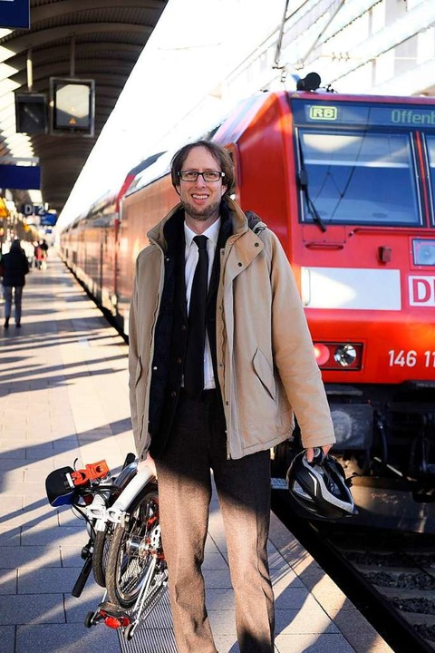 Munter trotz extremer Pendelei: Markus Czogalla.  | Foto: Thomas Kunz
