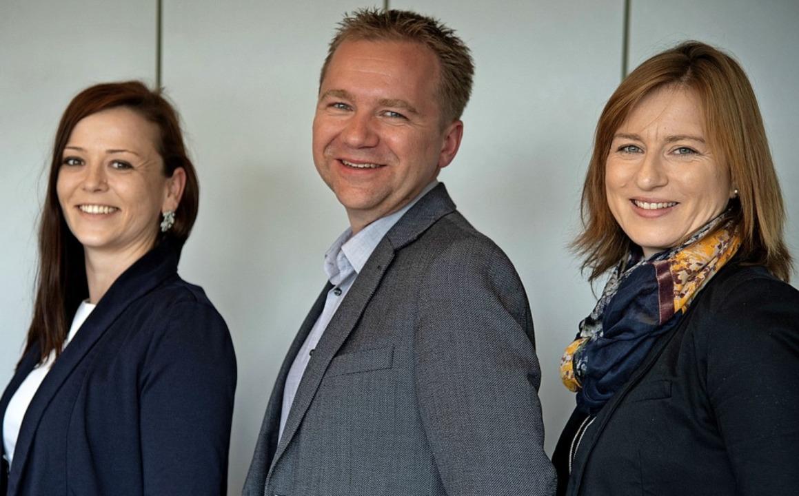 Das neue Pächter-Trio im Bürgerhaus: C...rießler und Susanne Kirsch (von links)    Foto: Volker Münch