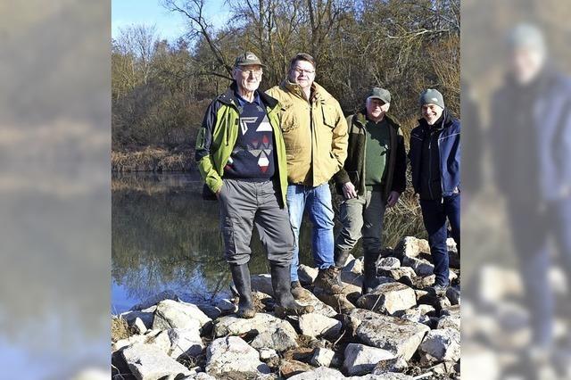 Neue Felsen für den Fischbestand
