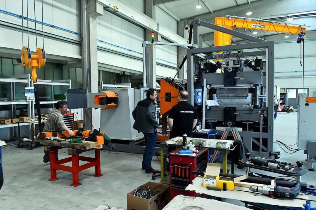Maschinen und Anlagen baut die Firma Lorenz in Friesenheim.  | Foto: Wolfgang Künstle