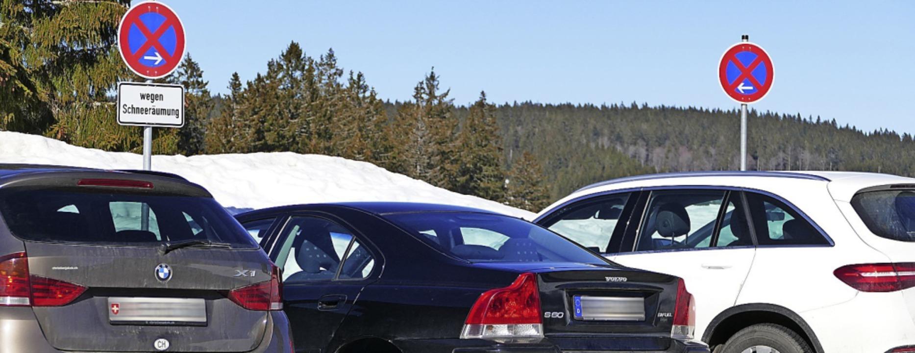Manche Fahrer ignorieren immer wieder ...d entstand am Samstag in Todtnauberg.   | Foto: Sattelberger