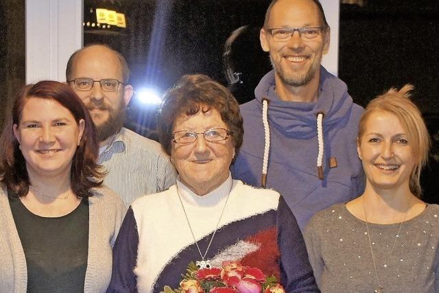 Helga Oeschger packt es mit gut 80 Jahren erneut