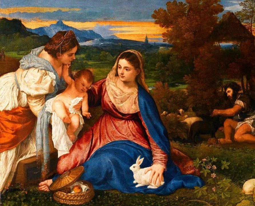 """Tizian: """"Maria mit dem Jesuskind...er Heiligen Katharina"""" (um 1530)    Foto: Mi. Bellot/RMN"""