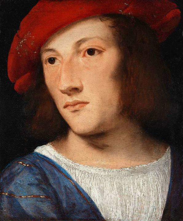 """Tizian: """"Bildnis eines jungen Mannes"""", um 1510    Foto: Walter Adler /Städel Museum"""