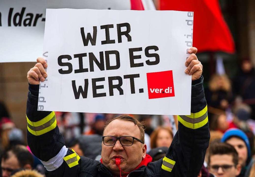 Verdi-Warnstreik  | Foto: dpa