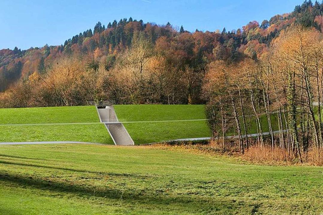 Für besseren Hochwasserschutz plant di...orben und Günterstal. (Visualisierung)  | Foto: Visualisierung: Stadt Freiburg