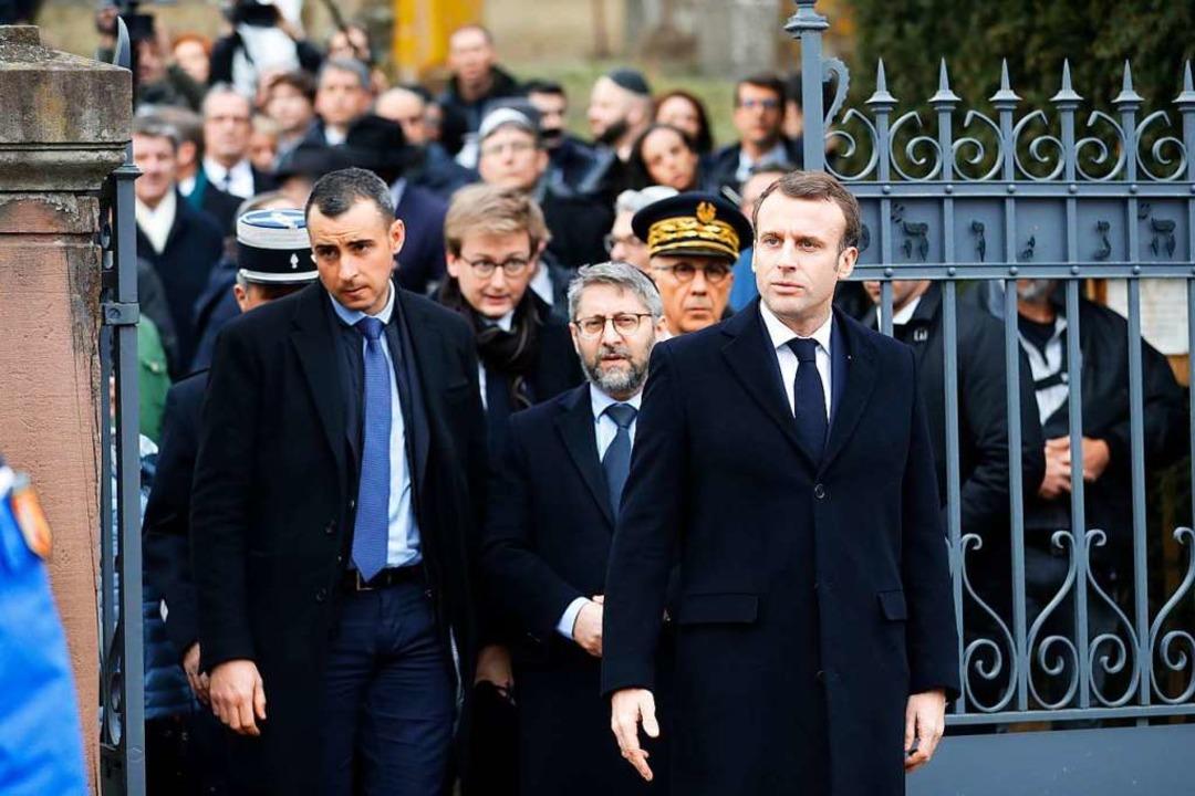 Nach Gräberschändung: Macron besucht jüdischen Friedhof im Elsass  | Foto: dpa