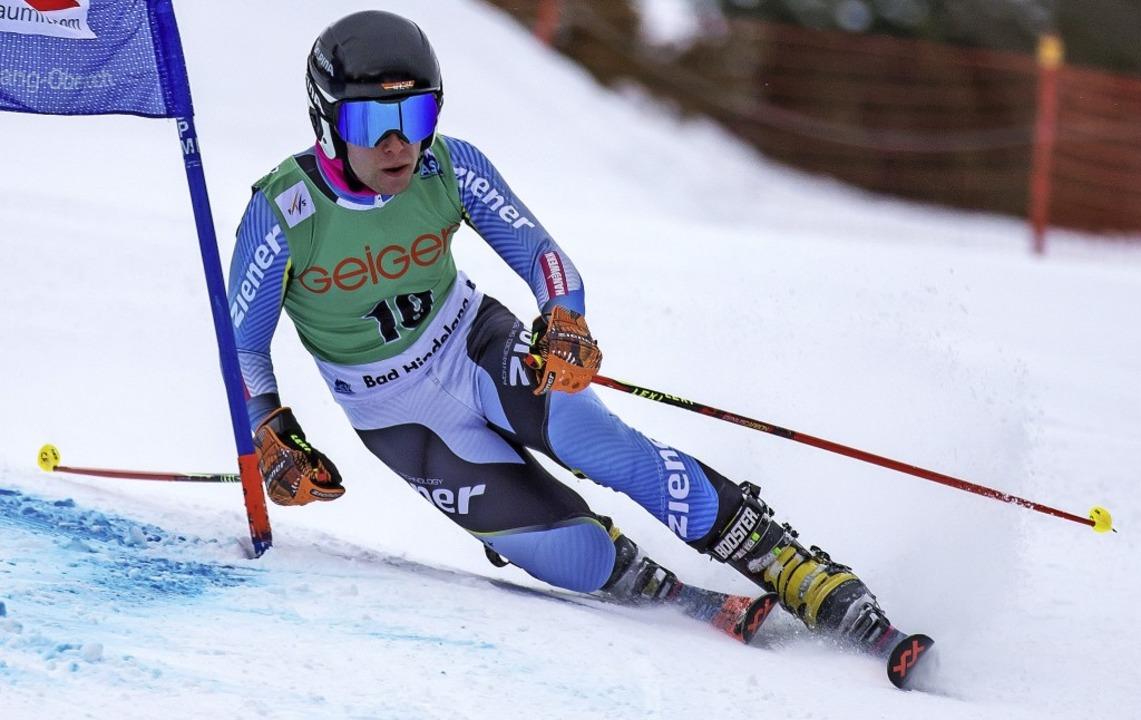 Stets stabil auf dem Telemark-Ski:  Christoph Frank vom SC Kandel     Foto: DSV Telemark-Team