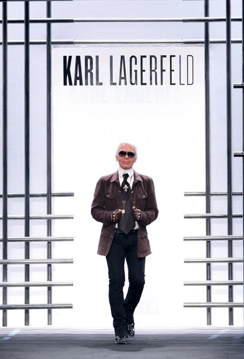 Lagerfeld im Jahr 2009.  | Foto: AFP