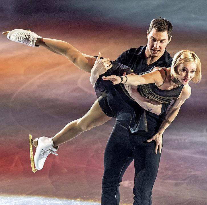 Rührten  das Publikum: Aljona Savchenko und Bruno Massot  | Foto: Gründl