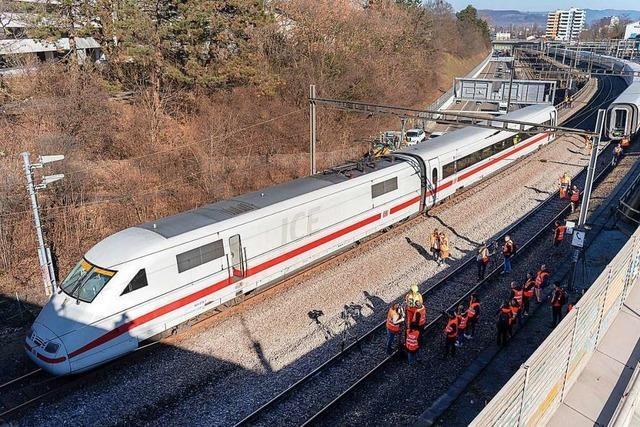 Nach ICE-Unglück: Sperrung in Basel wieder aufgehoben