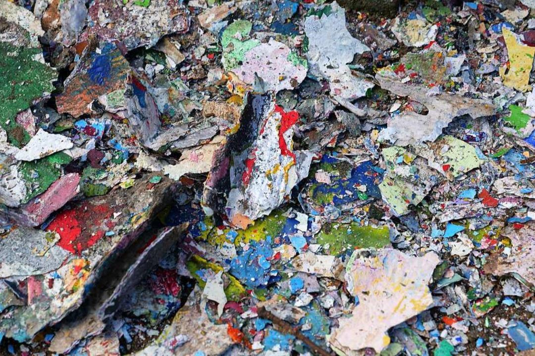 Die dicke Farbschicht am Fohlen.  | Foto: Patrick Kerber