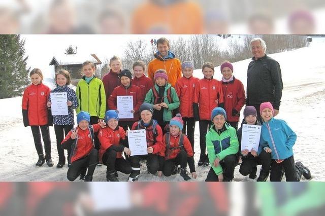 Grundschüler trainieren für Olympia