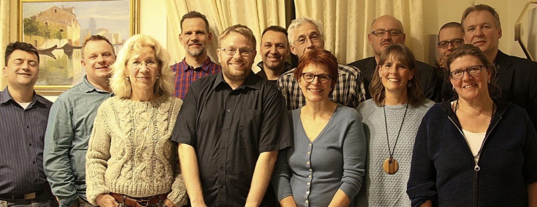 Die Kandidaten der Grünen mit Volkmar ...orenz und Martin Fischer (von links)    | Foto: Privat