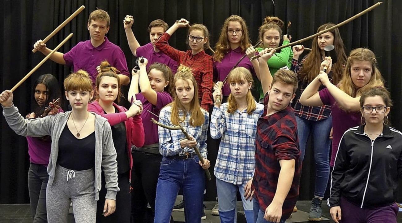<BZ-FotoAnlauf>Theater </BZ-FotoAnlauf...audis, mit denen nicht zu spaßen ist.   | Foto: Schule