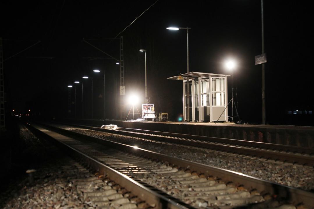 Der Unglücksort bei Bahnhof Legelshurst  | Foto: Christoph Breithaupt