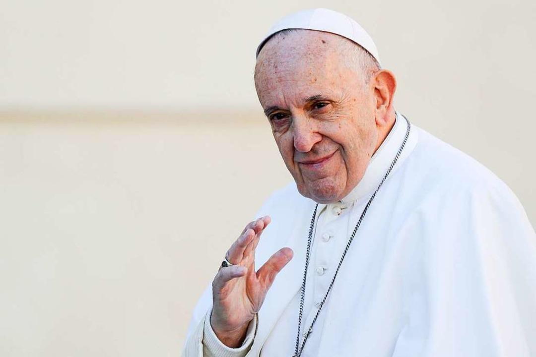 Papst Franziskus will das Thema des se...en Missbrauchs in der Kirche angehen.   | Foto: dpa